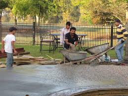 Pea Gravel Patio Plans by Building Your Own Swimming Pool In Katy Texas Aaron Layman