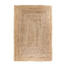 broom teppich 180x120 jute natur beige läufer wohnzimmer esszimmer modern
