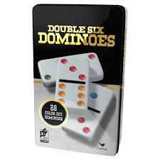 Classic Games Color Dot Double Six Dominos In A Tin