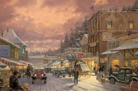Thomas Kinkade Christmas Tree Village by Ftp Psycko Com Share Images Art 0 Artists Thomas Kinkade