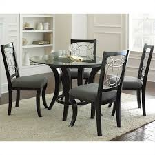 steve silver company cayman 5 piece round dining table set in