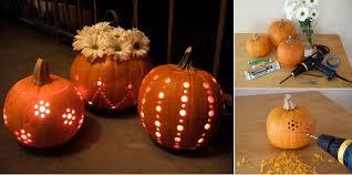 Drilled Jack O Lantern Patterns by 11 Pumpkin Carving Hacks For A Killer Halloween Spirit Earth