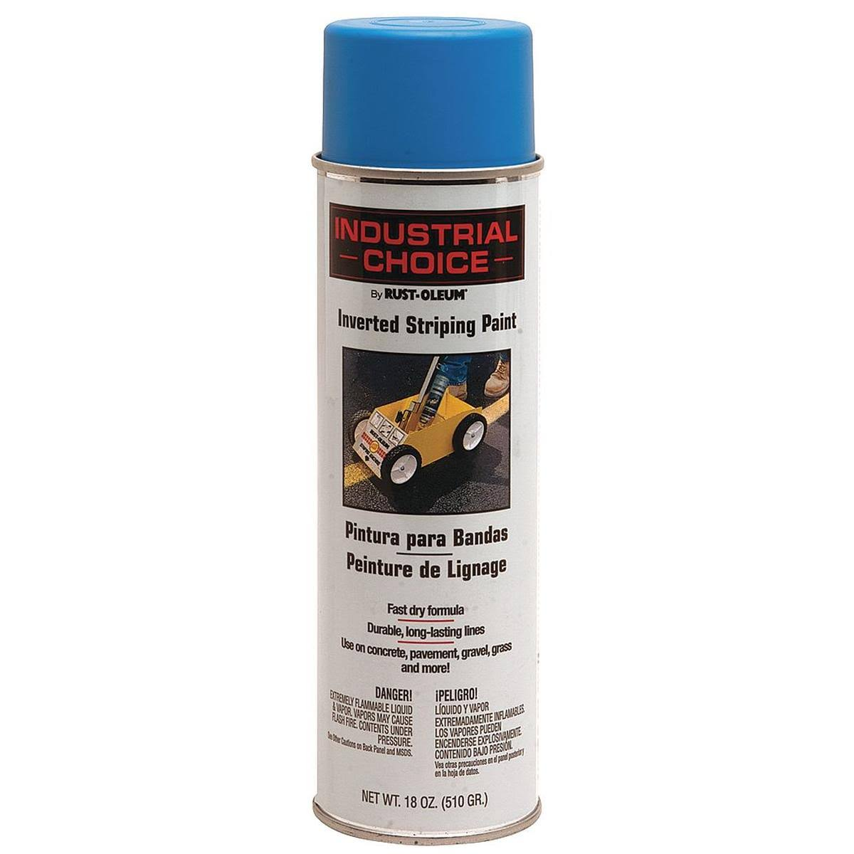 Rust Oleum Industrial Choice Inverted Striping Spray Paint - Dark Blue, 18oz