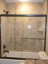 bathroom shower tub tile ideas white and blue ceramic tiled wall