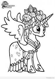 My Little Pony Coloring Pages Princess Celestia In A Dress 34