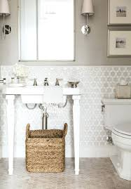 Wallpaper For Small Bathrooms Stenciled Wall Small Bathroom ... Neutral Graphic Wallpaper Takes This Small Bathroom From Basic To Bold Removable Wallpaper Patterns For Small Bathrooms The Alluring Bathroom Bespoke Best Wall Covering For Ideas Waterproof Walllpaper Paper Glamorous With 3d Porcelain Tile Ideas 342 Full Hd Wide 40 Design Top Designer Fascating Grey Virtual Remodel Dream 17 Stylish Victorian Plumbing Black And White Hawk Haven