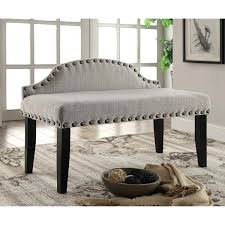 Upholstered Bench With Back Storage Upholstered Bench With Armrest