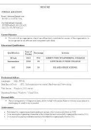 Resume Declaration Format Template Curriculum Sample Examples Of Good Example Vitae