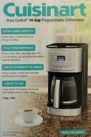 Cuisinart Coffee Maker 14 Cups New Brew Central Cup Programmable Coffeemaker W Strength