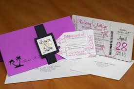 Boarding Pass Invitations For A Destination Wedding