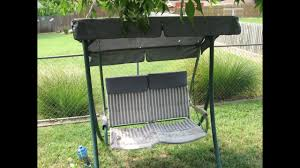 Replacement Vinyl Straps For Patio Chairs by How To Refurbish A 2 Seat Patio Swing Walmart Rus4860 Youtube