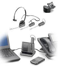 Savi W740 Wireless Headset Triple Play Works with Desk Phone