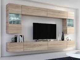 wohnwand fox sonoma eiche mediawand medienwand design modern led beleuchtung hängewand hängeschrank fox tv wand