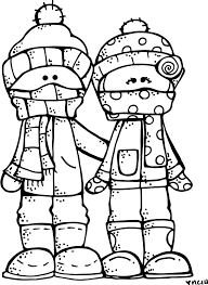 December Cold Weather Classroom Sign Printable Winter Coloring Page