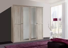 wimex kleiderschrank schlafzimmer schrank chalet spiegel 4 türig eiche sägerau 180cm