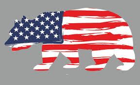 A Bear Symbol Of California Bearing The Stars And Stripes