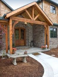 Columns On Front Porch by Gorgeous Front Porch Wood And Stone Columns For The Home
