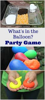 Party Games For Kids: Mystery Sensory Balloons | Science Area, Diy ... Birthday Backyard Party Games Summer Partiesy Best Ideas On 25 Unique Parties Ideas On Pinterest Backyard Interesting Acvities For Teens Regaling Girls And Girl To Lovely Kids Outdoor Games Teenagers Movies Diy Outdoor Games For Summer Easy Craft Idea Youtube Teens Teen Allergyfriendly Water Fun Water Party Kid Outdoor Giant Garden Yard