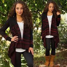 Sweater Cute Winter Outfits Leggings Boots Brown Necklace Black Cardigan Long Sleeves