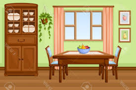 4 Clipart Dining Room Art Interior With Table And