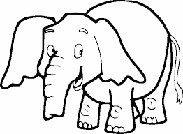 Elephant Coloring Pages Cute Printable