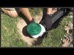 how to install a lawn pop up drain