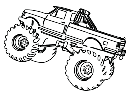 Phenomenal Monster Truck Coloring Pages Printable Free