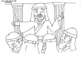 Paul Preaching In The Synagogue Coloring Page