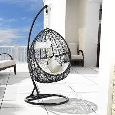 Outsunny Patio Furniture Cushions by Outsunny Garden Rattan Swing Chair Egg Hanging Seat W Cushion
