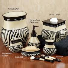 Zebra Print Bathroom Decor by Accessories Zebra Print Kitchen Accessories Zuma Zebra Bath