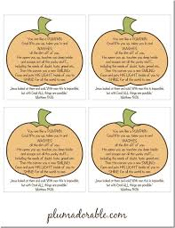 Pumpkin Patch Parable Craft by Blessing Bags And Free Printable This Site Is Wrong The Other On
