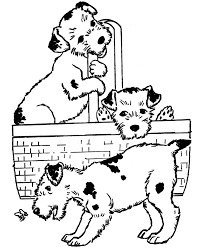 Puppy Coloring Pages For Kids Printable Book