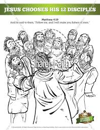 Jesus Chooses His Disciples Website Inspiration 12 Coloring Page