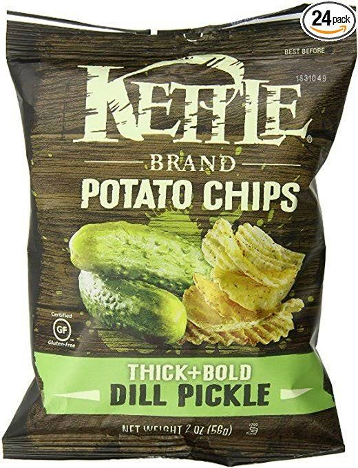 Kettle Brand Thick+Bold Dill Pickle Potato Chips - 2 oz