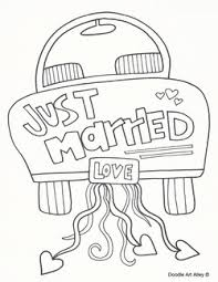 Just Married Coloring Pages GetColoringPages