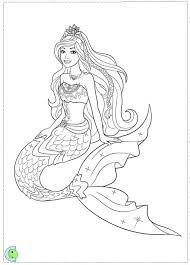 Beautiful Barbie Mermaid Coloring Pages 69 On Free Colouring With