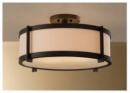 lighting design ideas vintage rubbed bronze semi flush