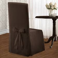 Amazon United Curtain Metro Dining Room Chair Cover 19 By 18 39 Inch Chocolate Home Kitchen