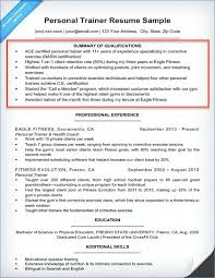 Examples Summary Qualifications For Resume 0 Personal Trainer