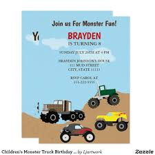 Children's Monster Truck Birthday Invitation In 2018 | Party ... Free Printable Birthday Cards With Monster Trucks Awesome Blaze And The Machines Invitations Templates List Truck Party 50 Unique Ideas Cookie Free Pvc Invites Vip Invitation Novel Concept Designs Mud Thank You Card Truck Party Printable