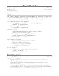 Resume Template For Project Manager Sample A Event Planning Assistant