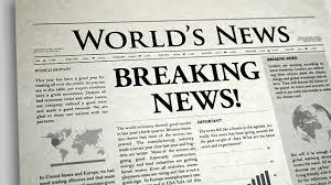 Newspaper Headline Breaking News Video