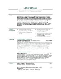 Special Education Teacher Resume Objective Examples 2017