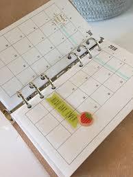 Smashing Pumpkins Luna Tab by 2018 Personal Planner Monthly Spread Calendar Printable 6