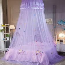 details zu betthimmel rund spitze prinzessin moskitonetz kinder schlafzimmer dekoration
