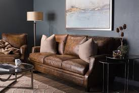 Bernhardt Foster Stationary Sofa by Bernhardt Barclay Leather Mocha Sofa Mathis Brothers Furniture