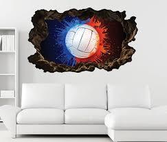 3d wandtattoo rot blau abstrakt sport selbstklebend wandbild wohnzimmer wand aufkleber 11l2211 3dwandtattoo24 de