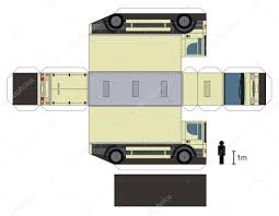 100 Paper Truck Model Of A Truck Stock Vector Martin2015 89321664