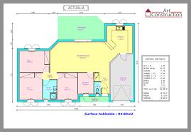 plan maison contemporaine plain pied 3 chambres maison gratuit charente maritime