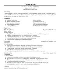 Current Resume Examples Beauty Artist Sample College Student
